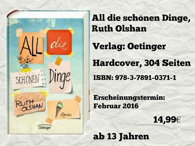 [Rezension] All die schönen Dinge von Ruth Olshan